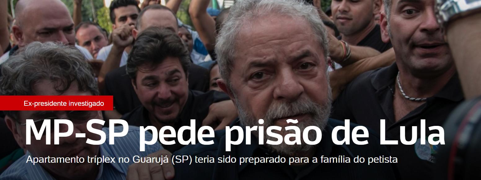 Lula, bandido - enfim, pedida sua prisão preventiva pelo Ministério Público de SP - a Papuda te aguarda... 10/03/2016
